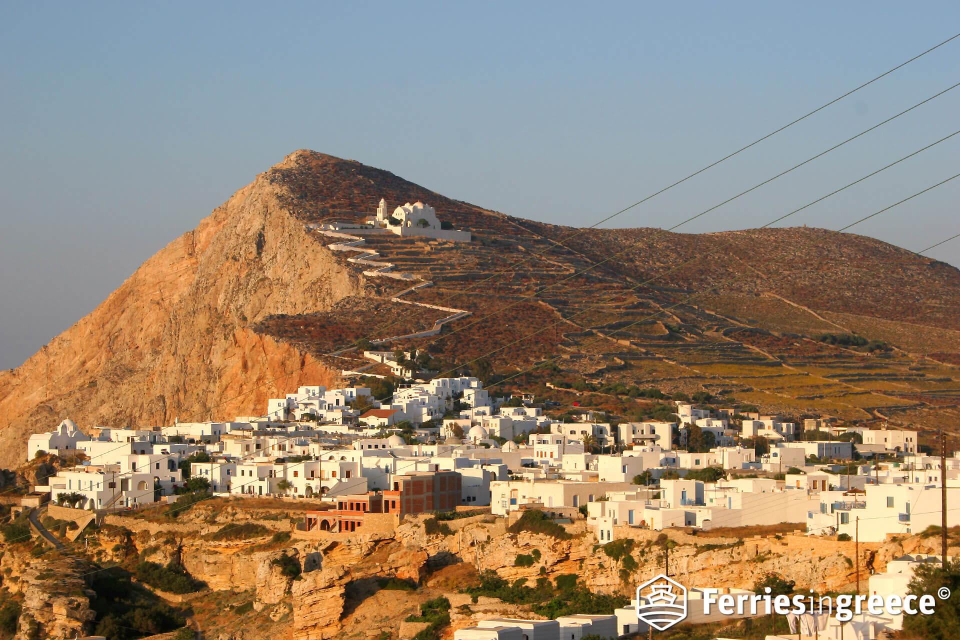 Santorini to Folegandros island