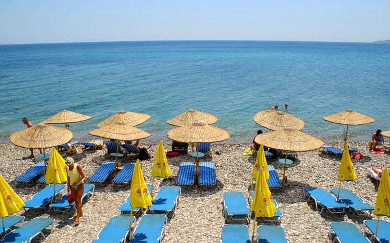 Organized beach in Chios