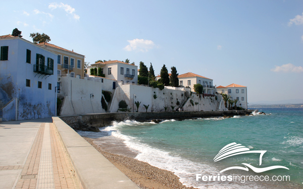 Ferry to Saronic islands: Spetses
