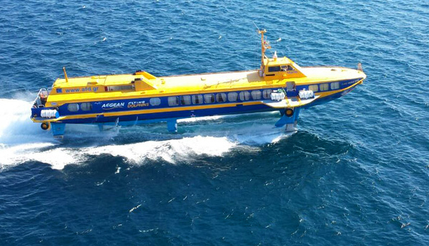 Greek flying dolphin ferry