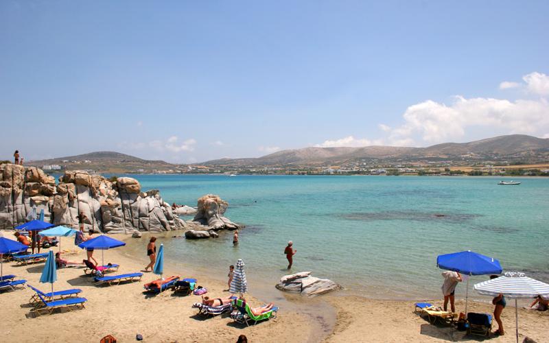 Kolimbithres beach in Paros