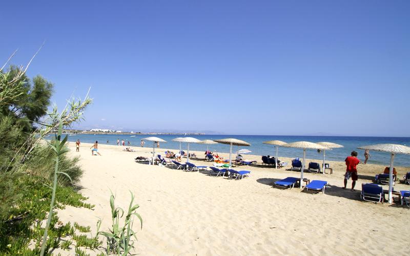 Sandy beach in Paros island