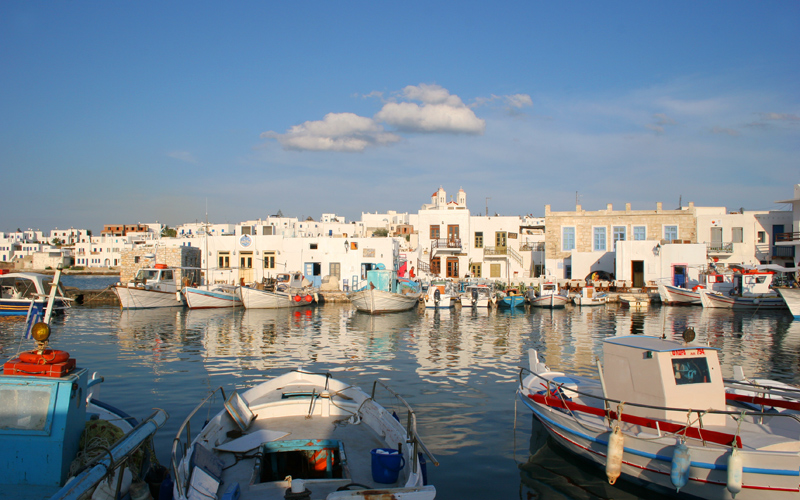 Paros island: the old port of Naoussa
