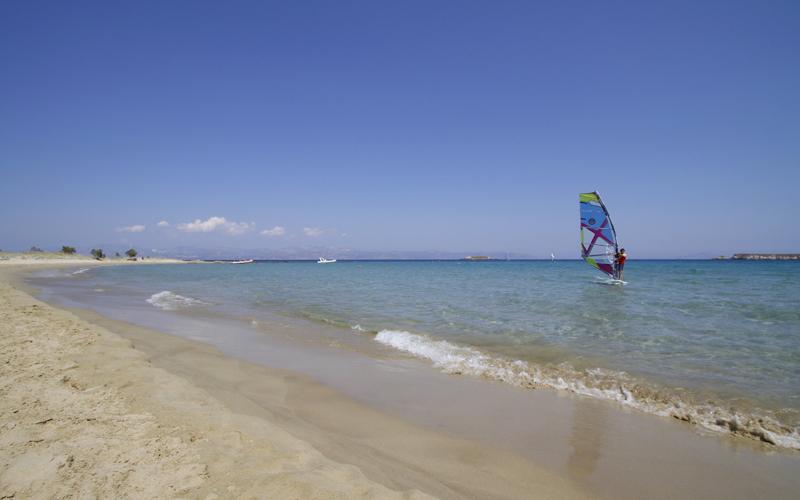 Windsurfing in Paros island