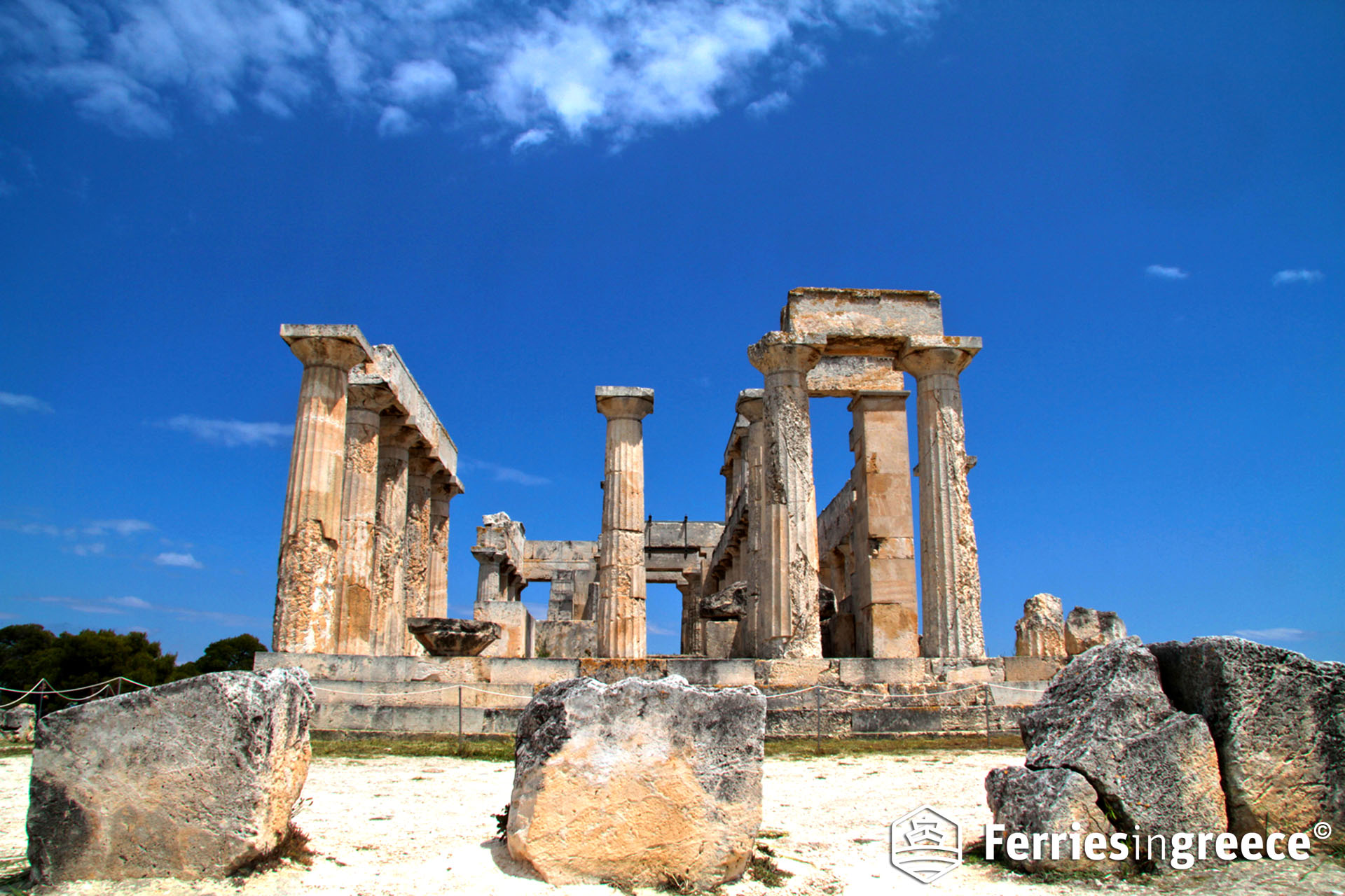 Greek islands with famous ancient sites: Aegina