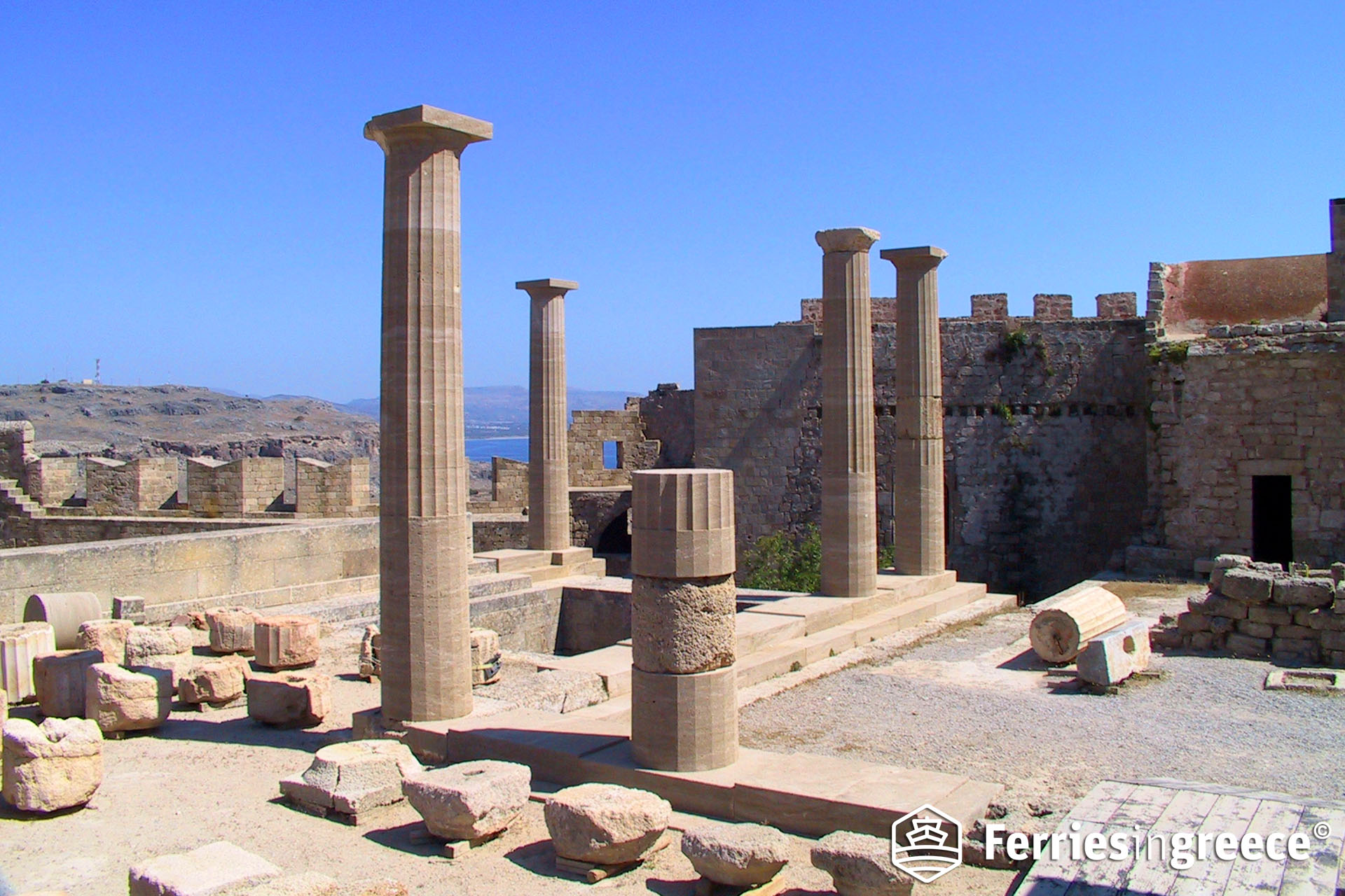 Rhodes among Greek islands with famous ancient sites