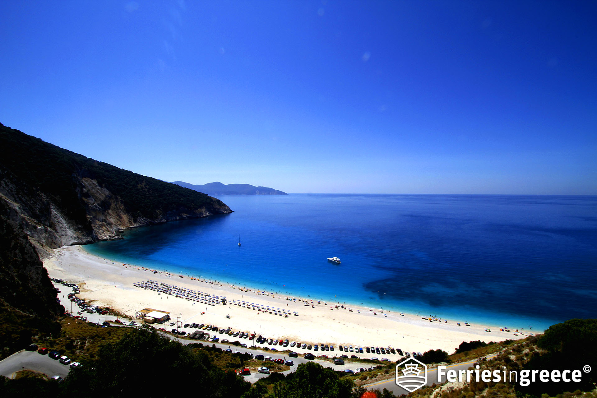 Best beaches in the Greek islands: Myrtos beach
