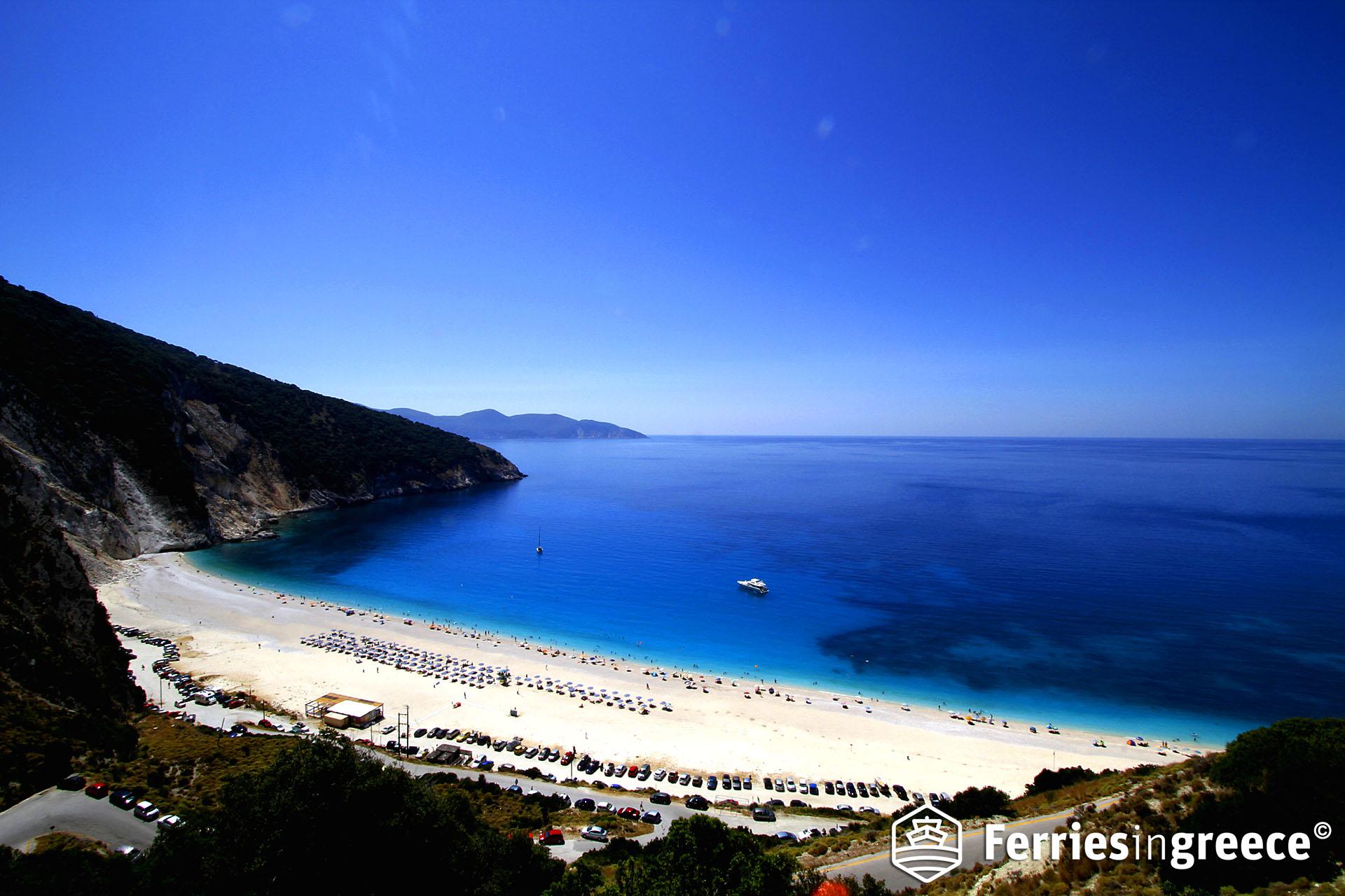Best beaches in the Greek islands: Myrtos beach