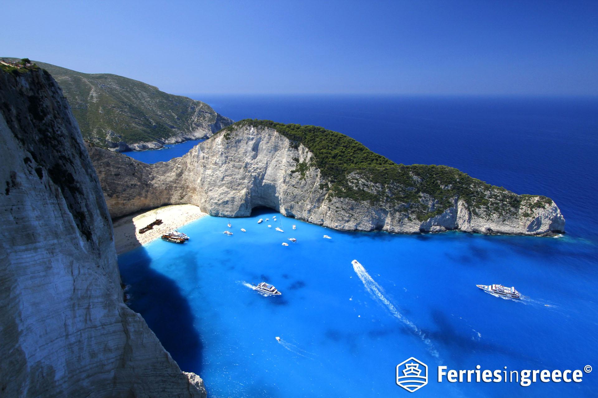 Best beaches in the Greek islands: Navagio or the Shipwreck beach