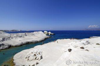 Sarakiniko beach Milos Greece
